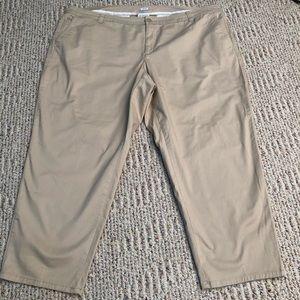 Liz Claiborne Woman Chino Khaki Pants 24W NICE